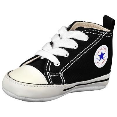 Converse Chuck Taylor Black White Baby Boy Girl New Born Crib Shoes Sizes - Chuck Taylors Baby