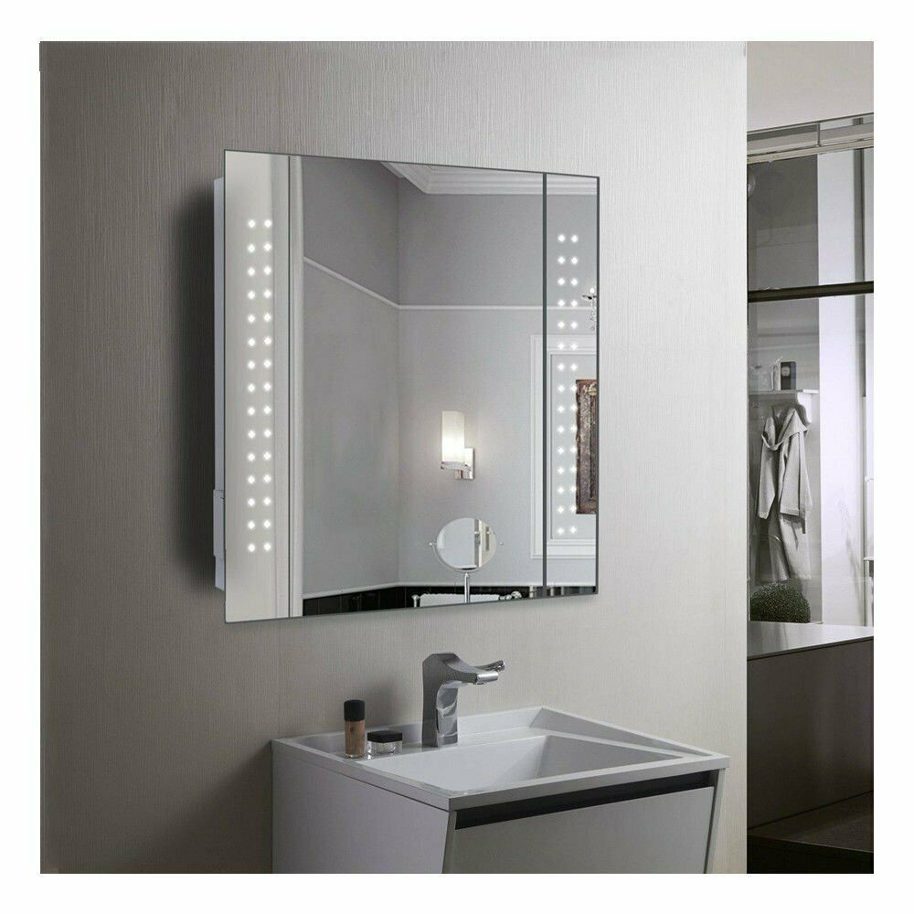 Halo Range Led Bathroom Mirror With Sensor Demister Shaver Socket 9011 For Sale Ebay