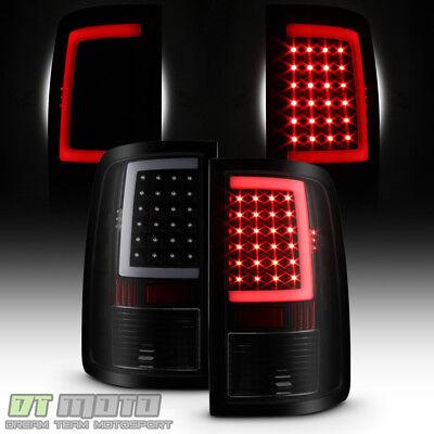 Black Smoke 2013-2018 Dodge Ram 1500 2500 3500 LED Tube Tail Lights Brake Lamps