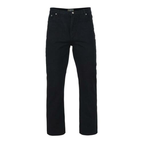 Da Uomo Kam Jeans KBS101-06 Stretch Regular Fit Jeans Nero taglia 40 a 48