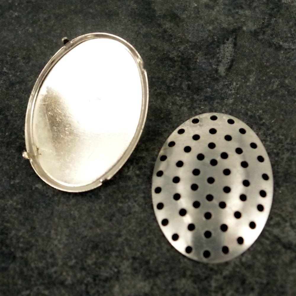 50 x ROUND BROOCH BACKS BAR PINS CIRCLES 36mm Craft Badge Making  BR6