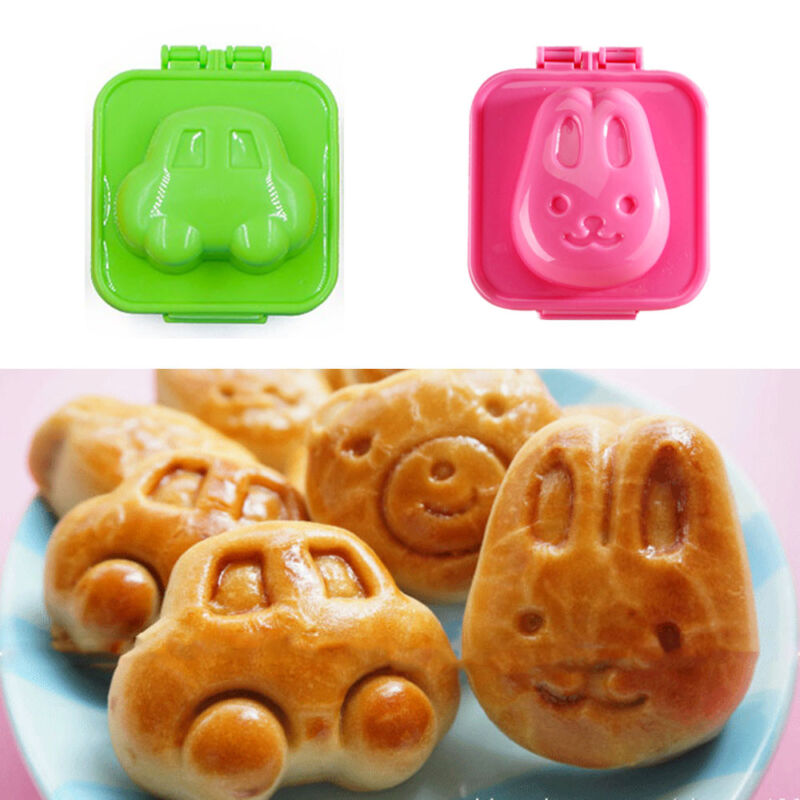 Boiled Egg Sushi Rice Mold Bento Maker Sandwich Cutter Kitchen Gadget 6Pcs//1Pc