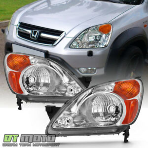 For  2002 2003 2004 Honda CRV C-RV Headlights Headlamps Replacement Left+Right