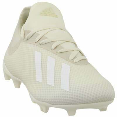 adidas X 18.3 Firm Ground  Casual Soccer Cleated Cleats White Mens - Size 10 D