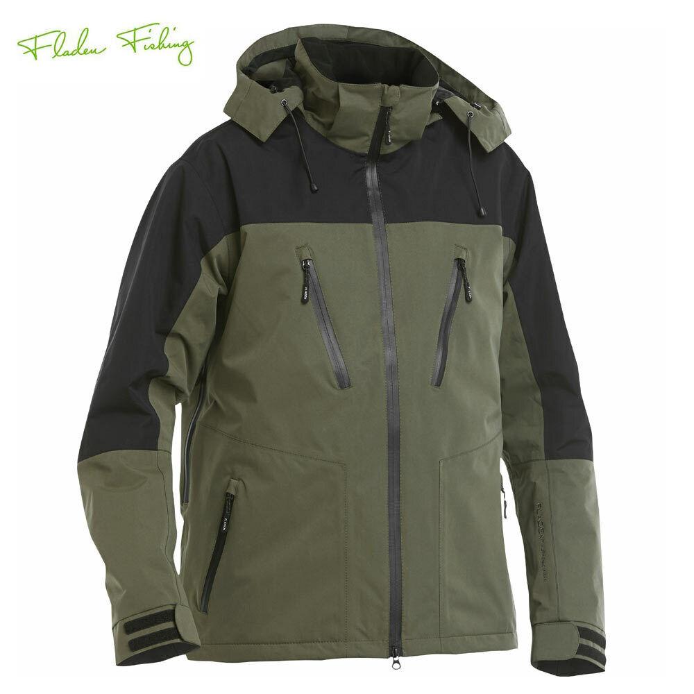 Fladen Authentic Angler u. Regen Jacke Schweden Green/Black 10000mm Atmungsaktiv