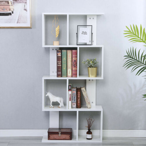 4 Layer Bookcase Book Shelf Storage Organizer Rack Cabinet B