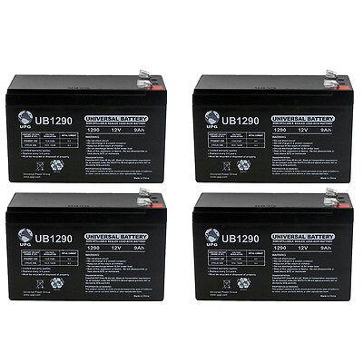 UPG 12V 9Ah SLA Battery for PowerWalker VI 750 PSW UPS - 4 Pack