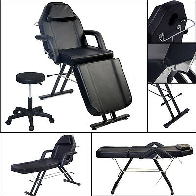 Beauty Salon Chair Balance Massage Table Tattoo Facial Couch Bed  Couch W/ Stool