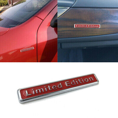 3D Red Limited Edition Emblem Car Stying Body Trim Sticker Decal Badge 6.5cm