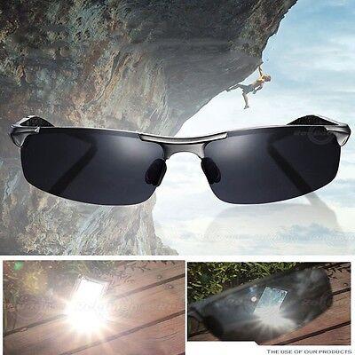 UV400 Sonnenbrille Polarized Sport  Outdoor Herr Sportbrille Silber