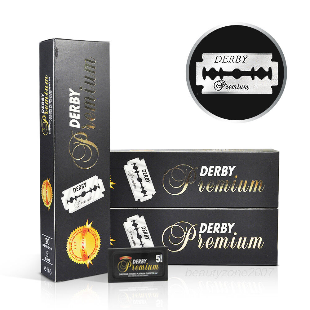 Derby Premium Double Edge Razor Blades 100 Count X 3 Pack
