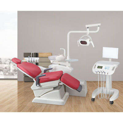 Dental Unit Chair Environmental Leather Luxury Removable Glass Spittoon Wb