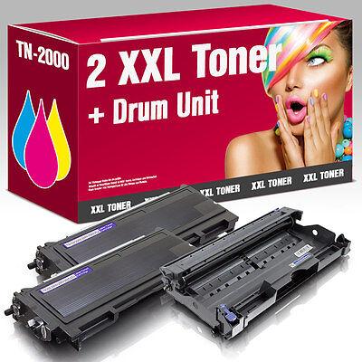 2 Toner+Trommel für Brother HL2030 MFC7420 FAX2820 DCP7010 TN-2000 DR-2000 online kaufen
