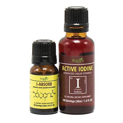 Active Iodine + IO-Absorb - Nascent Iodine | All-Natural Formula 2X -