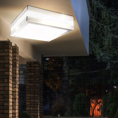 Garten LED Decken Lampe Außenbereich eckig Energie Spar Licht 10W 540lm Leuchte