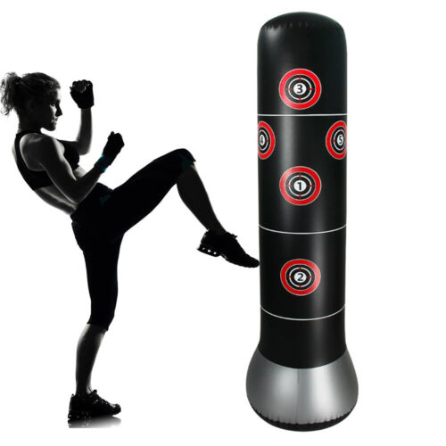 adult inflatable free standing punching bag training
