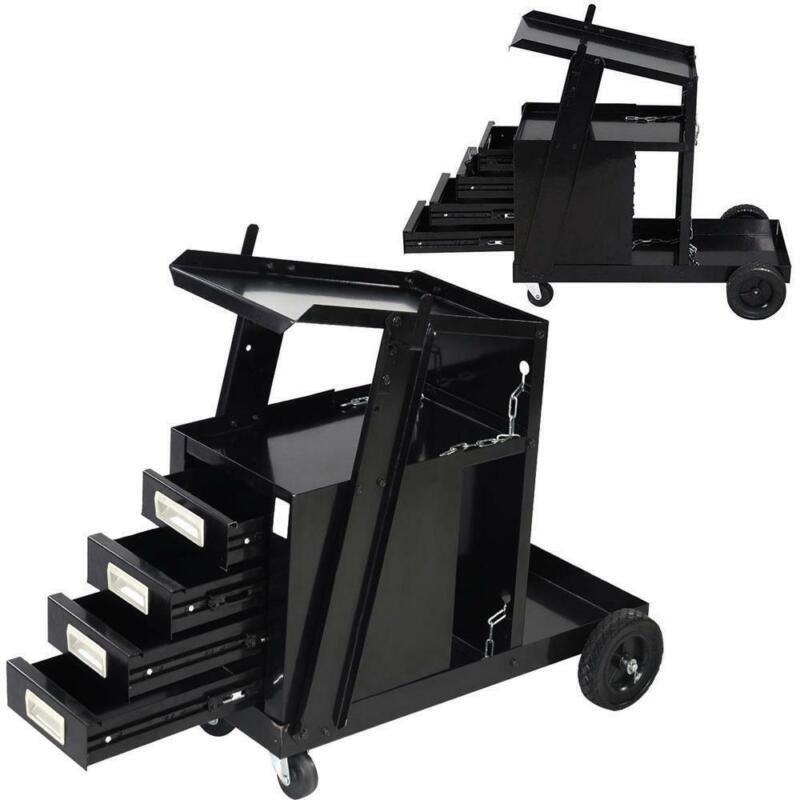 Welder Welding Cart Tool Cart MIG TIG ARC Universal Storage For Tanks w/ Handle