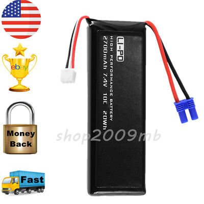 7.4V 2700mAh 10C Lipo Battery Replacement for Hubsan H501S RC Quad Drone BC656