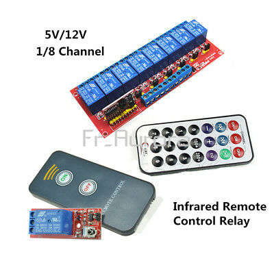 New 1/8 Channel Infrared Remote Control Switch Relay Multi-function 5/12V LED
