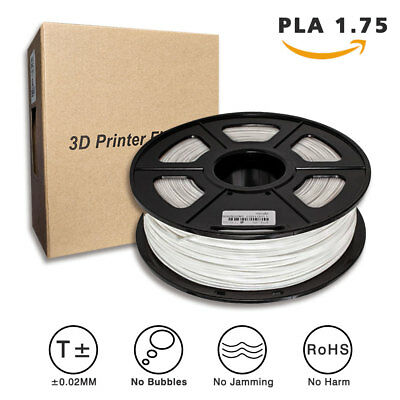 JETSUE 3D Premium Printer Filament PLA Material 1.75mm 1KG, White