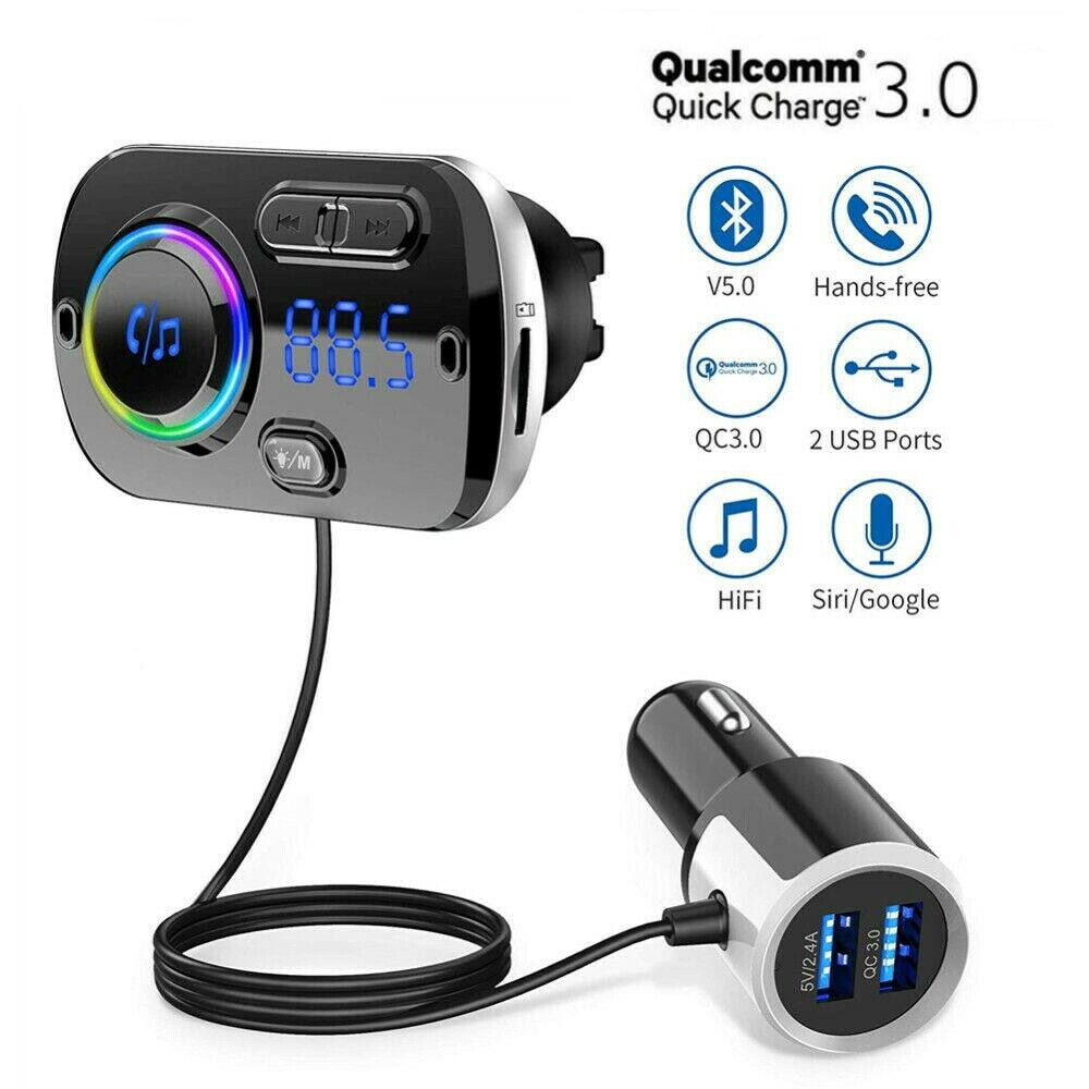 Bluetooth FM Transmitter Wireless Radio Adapter Handsfree Ca