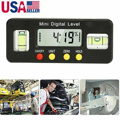 Mini Protractor Angle Finder Bevel Gauge Magnet Digital Inclinometer Level Box
