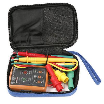 3 Phase Sequence Rotation Testing Tester Indicator Checker Tool Kit 60v600v Ac