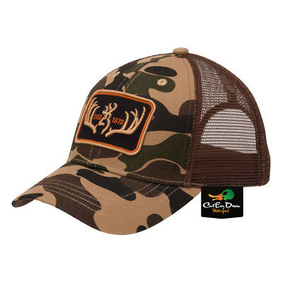 NEW BROWNING RACKED BALL CAP HAT BUCKMARK LOGO OLD SCHOOL BROWN CAMO for sale  Shipping to India