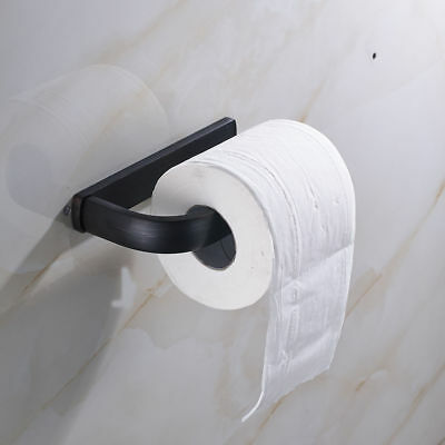 Oil Rubbed Bronze Black Wall Mounted Toilet Paper Holder Tissue Bar Single Brass (Mounted Toilet Paper)