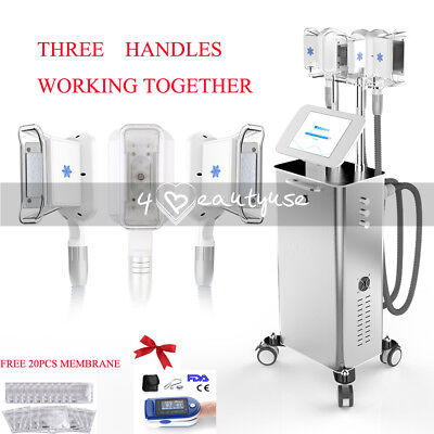 3 Handles Vacuum Cooling Fat Freeze Cellulite Removal Body Slimming Cold Machine