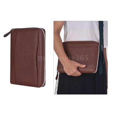 Business Executive Conference Folder File Document Case Organiser Leather F5a4