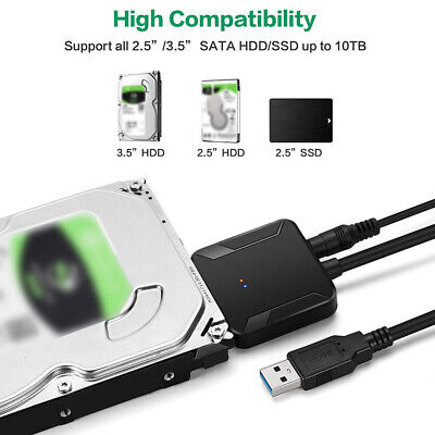 USB 3.0 a SATA Adaptador 2.5 in /3.5 in SSD HDD SATA...