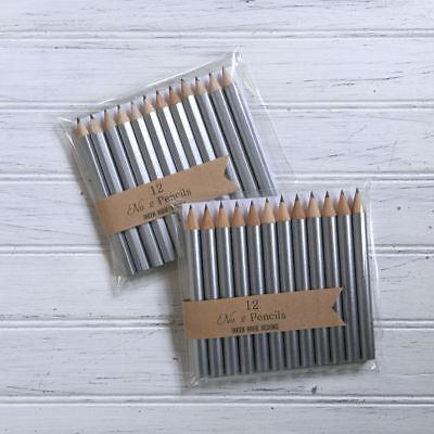 Silver Party Pencils, Wedding, Golf Pencils, Baby Shoer Bingo Pencils](Wedding Bingo)