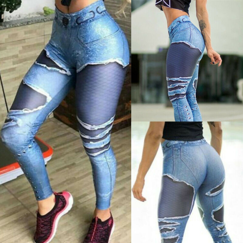 Women High Waist Yoga Pants Butt Lift Leggings Workout Ruched Booty Gym Trousers 12