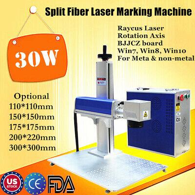 Us 30w Split Fiber Laser Marker Laser Marking Machine With Rotation Axis Fda Ce