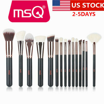 US 15Pcs Basic Makeup Brushes Set Soft Blending Foundation Eye Powder Blush Kits (Basic Makeup)