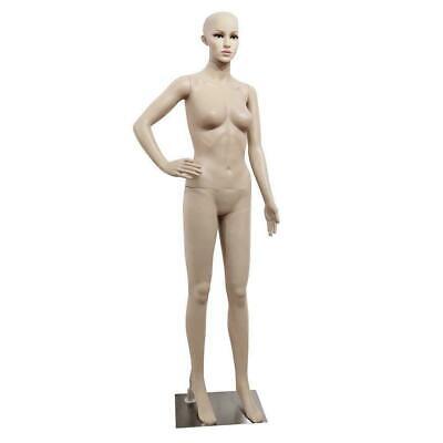 176cm Female Full Body Realistic Mannequin Display Head Turns Dress Form Wbase