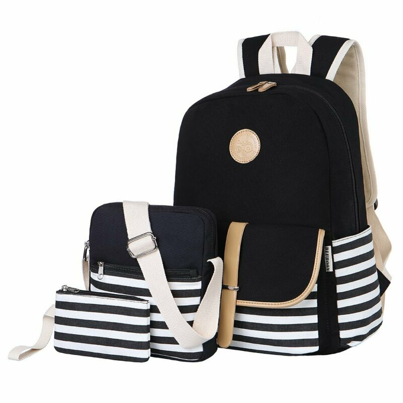 BLUBOON Teens Canvas Backpack Girls School Bags Set Bookbags