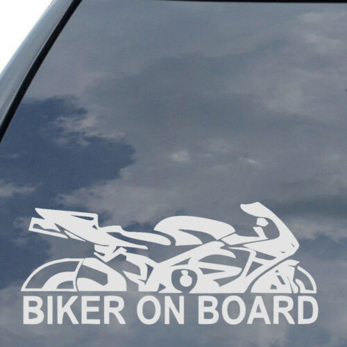 1x Reflective Biker On Board PET Car Vehicle Decal Motorcycle Sticker Universal