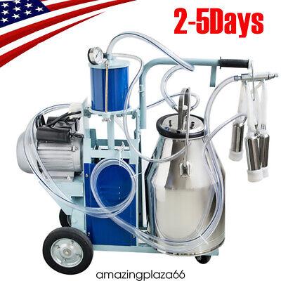 Fda Portable Electric Milking Machine Milker Cows Stainless Steel W 25l Bucket