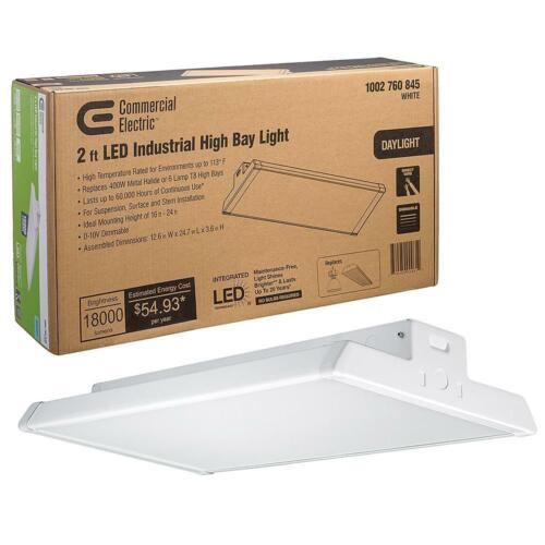 NEW Commercial Electric 2 ft. 400W Industrial High Bay LED Dimmable Light 5000K
