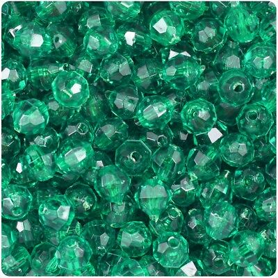 2 Bags of 85 Christmas Green Faceted Beads - discount price! (Discount Beads)