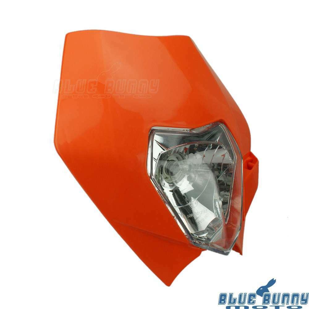 For KTM EXC XC MXC 250 450 520 530 Dirt Bike Headlight Head Lamp Fairing Orange | eBay