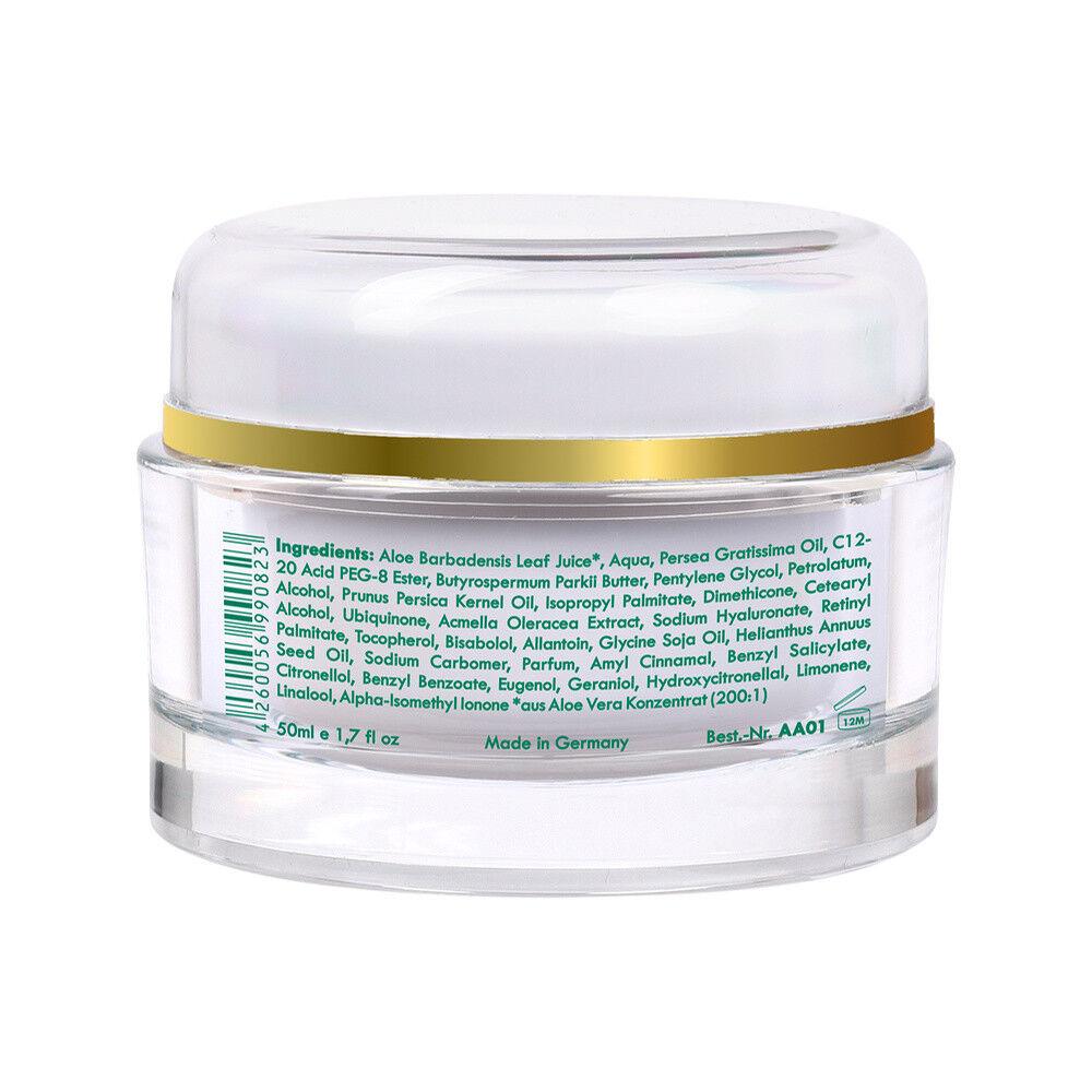 Aloe Vera Creme 24h Anti Aging Gesichtscreme - Anti Falten Creme - vegan - 50ml