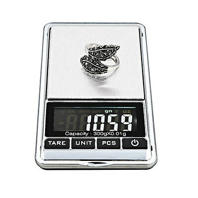 300g x 0.01g Portable Small Mini Digital Jewelry Pocket Gram Scale LCD