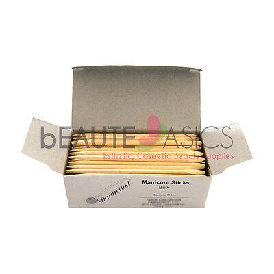144 pcs  4.5 Inch Eyebrow Waxing Wood Sticks Manicure Cuticle Pusher - PW2209 x1 (Eyebrow Waxing)