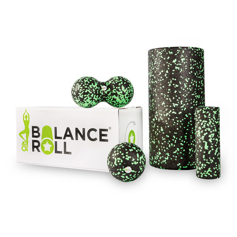 Komplett Set Faszienrolle Balance Roll Fitnessrolle Blackroll alternative Yoga