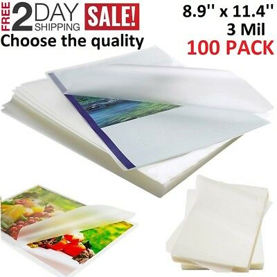 3 Mil Thermal Laminating Pouches 100 Pack Sheets 9 X 11.5 Letter Size A4
