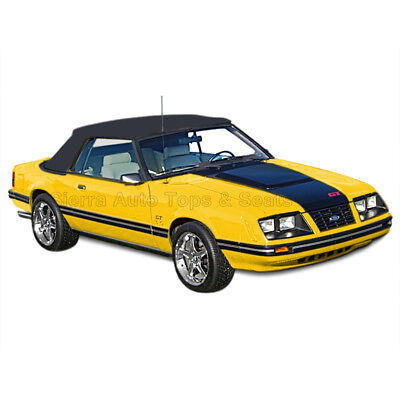 Mustang Convertible Top (83-90 All Models) Black Vinyl with Tinted Glass Window