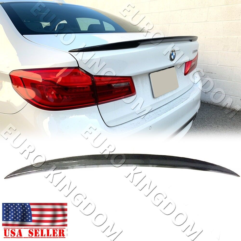 Fits 17-19 BMW G30 5 Series M Style Trunk Spoiler Wing Carbon Fiber
